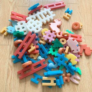 Kid's Plastic Building Blocks Animal Learning Toy